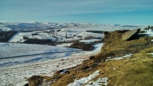 Stanage in the snow